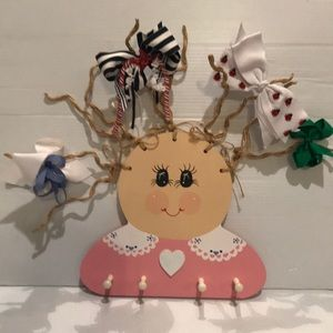 Girl HairBow Holder/Can be personalized